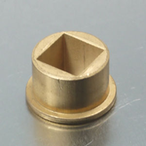square bore brass flange bushing